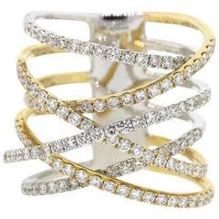Diamond Multi Row Crossover Ring