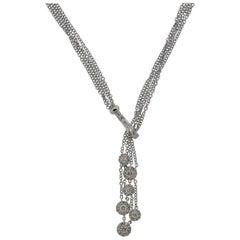 Diamond Multi-Strand Gold Drop Necklace