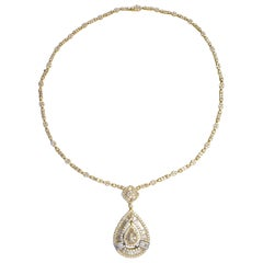 Diamond Necklace 9.22 Carat 548 Diamonds 18 Karat Yellow Gold