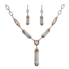 Diamond Necklace and Earrings Set