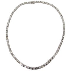 Diamond Necklace in 14 Karat White Gold