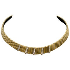 Diamond Necklace in 18 Karat Yellow Gold 3.8 oz