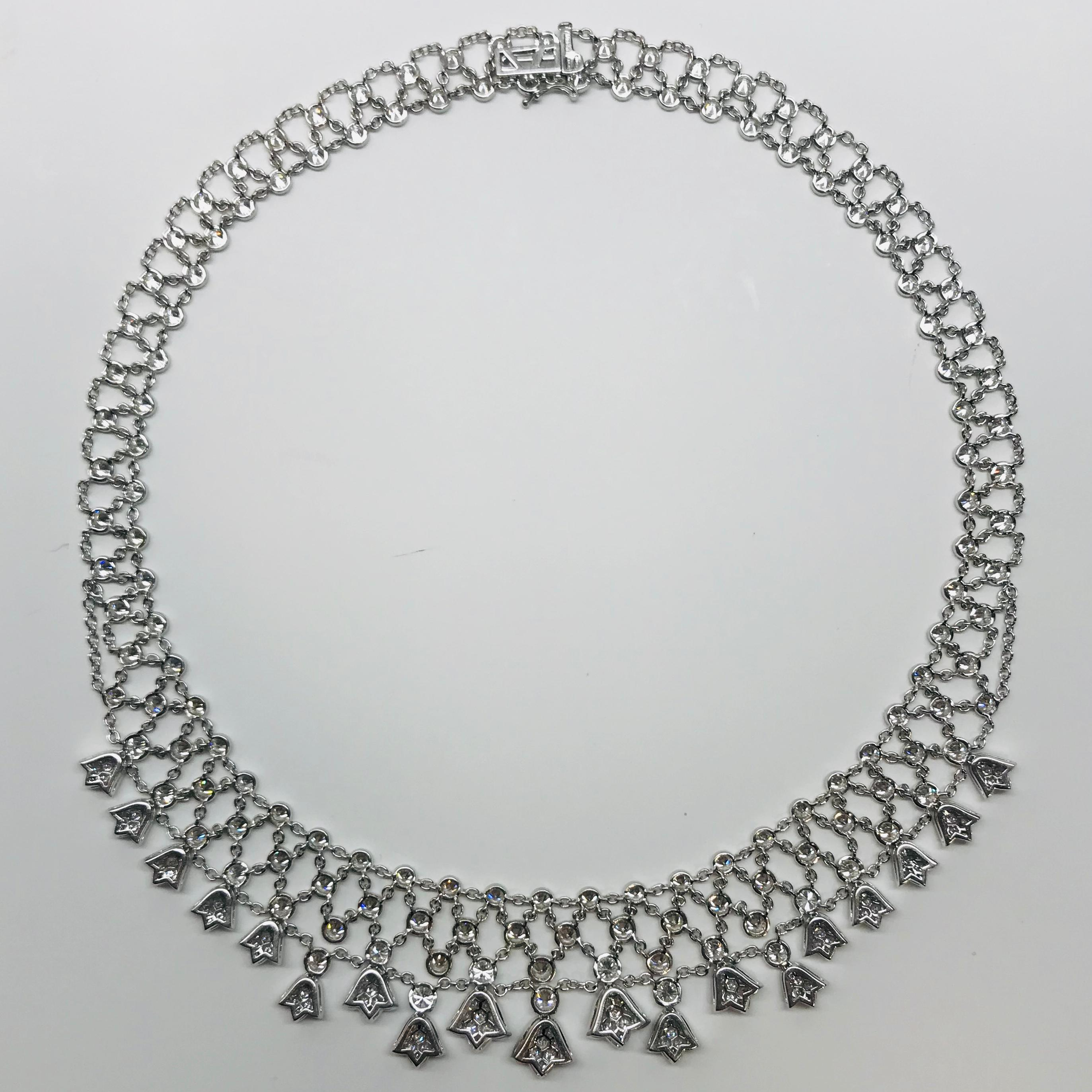 8b9099f8551b0 Diamond Necklace White Gold