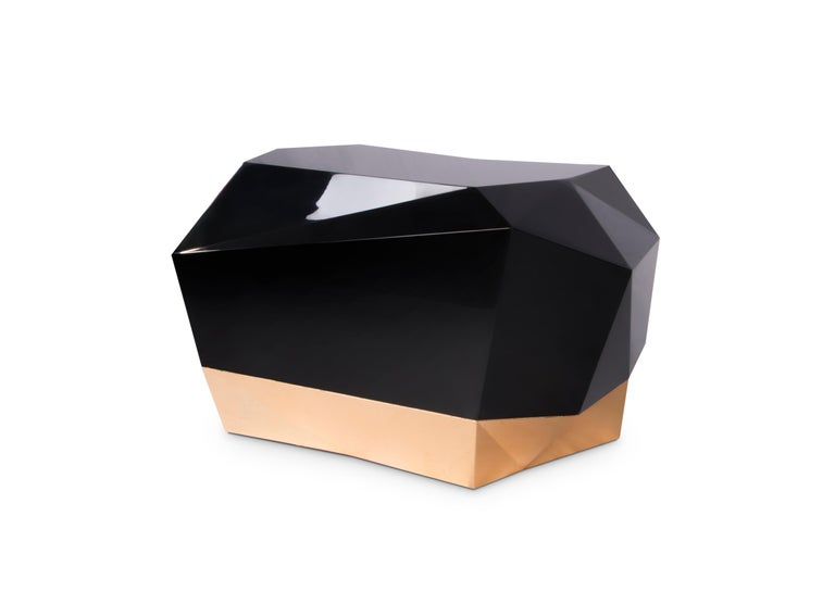 """The diamond, from the ancient greek term """"unbreakable"""", is inspired by precious stones and their discreet, yet powerful nature. Developed from one of Boca do Lobo's most iconic designs, the diamond nightstand is ready to accommodate any bedside"""