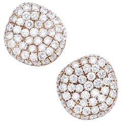 Diamond on Rose Gold Stud Earrings