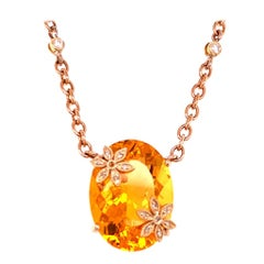 Diamond Opal Necklace 18k Gold 18.4 TCW Italy Certified