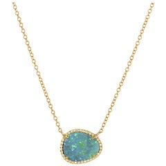 Diamond Opal Necklace