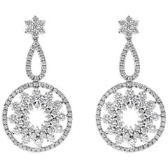 Diamond Open-Work Chandelier Earrings
