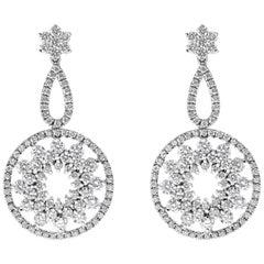 Roman Malakov, Diamond Open-Work Chandelier Earrings