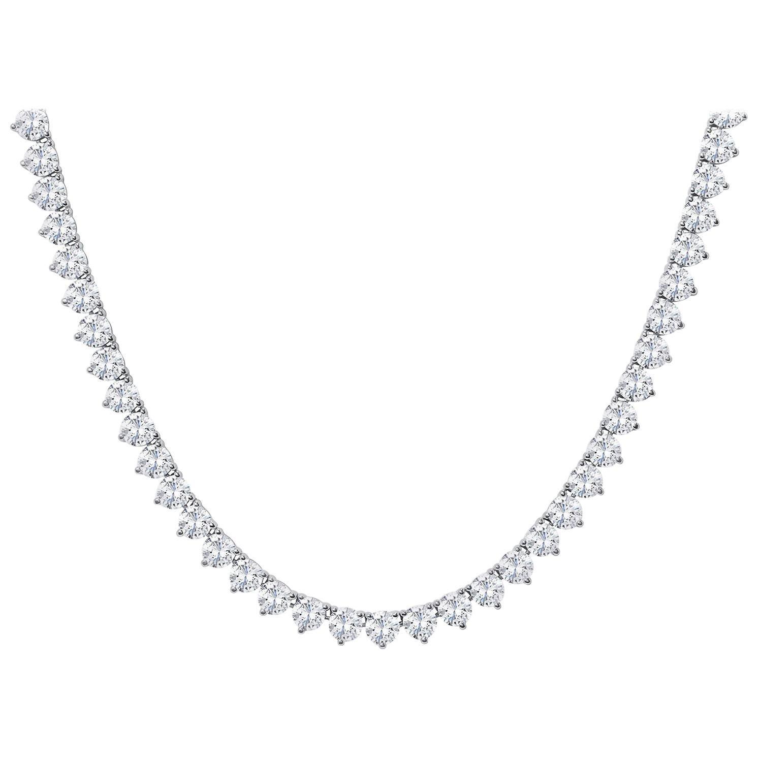 Diamond Opera Tennis Necklace