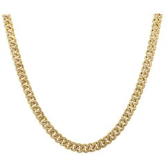 Diamond Pave Cuban Link Necklace