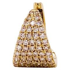 Diamond Pave Ear Cuff 14K Yellow Gold 1/4 Carat (0.25ct) Diamond Earring Cuff