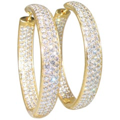 Diamond Pave Earring Hoops