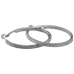 Diamond Pavé Gold Hoop Earrings