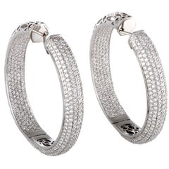 Diamond Pave Gold Hoop Earrings