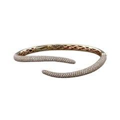 Diamond Pave Gold Tail Cuff Bracelet