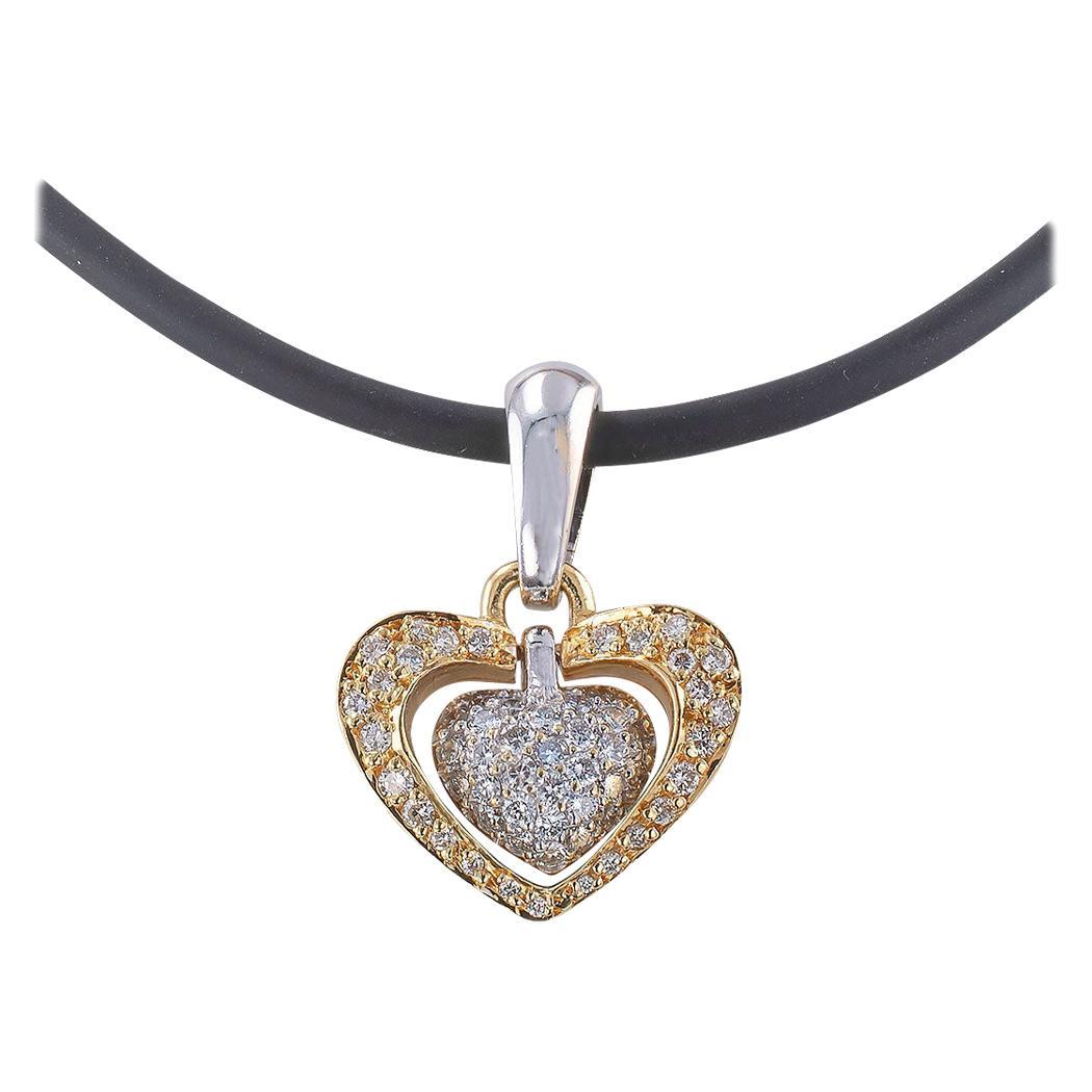 Diamond Pave Heart-Shaped Pendant