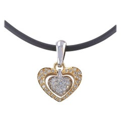 Diamond Pave Heart-Shaped Pendant