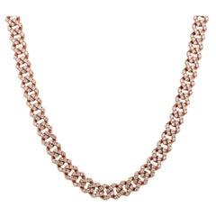 Diamond Pave Link Chain Necklace