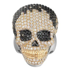 Diamond Pave Skull Men's Ring
