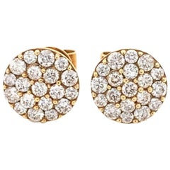 Diamond Pavee/Cluster Stud Earrings