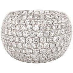 Diamond Pavee Cocktail Ring