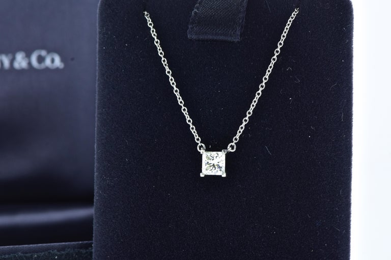 Contemporary Diamond Pendant Necklace by Tiffany & Co. For Sale