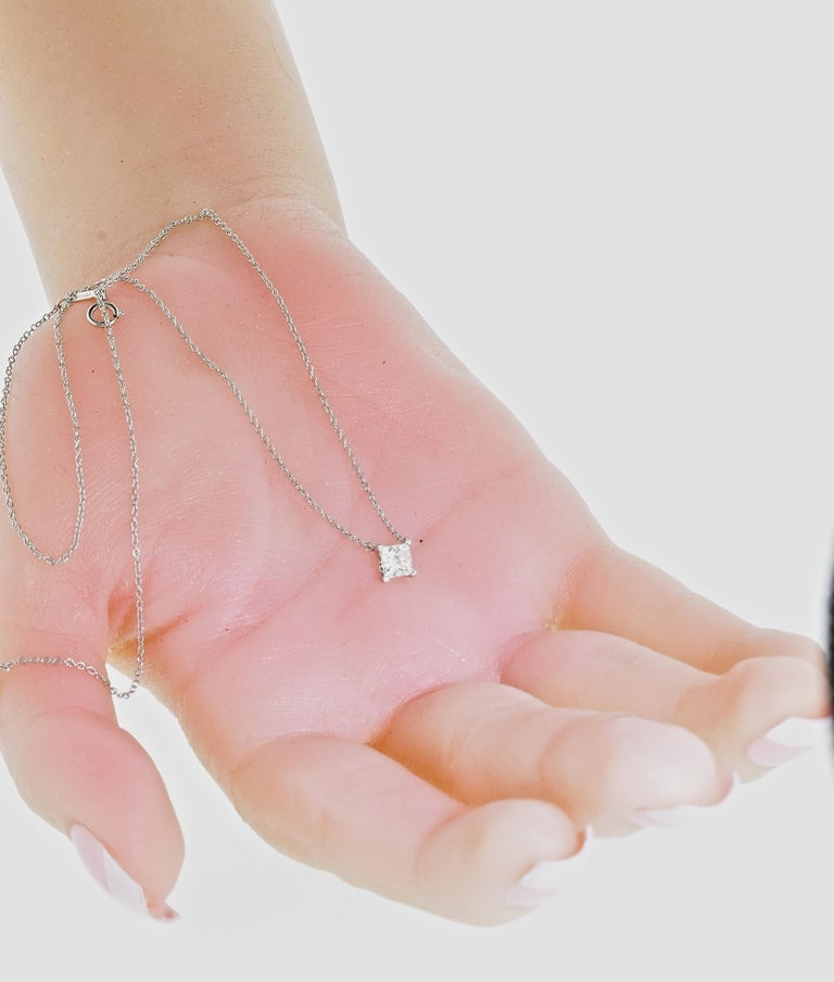 Diamond Pendant Necklace by Tiffany & Co. In Excellent Condition For Sale In Aspen, CO