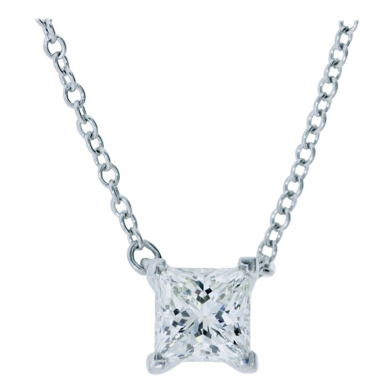 Diamond Pendant Necklace by Tiffany & Co. For Sale
