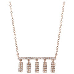 Diamond Pendant Necklace in 14 Karat Rose Gold