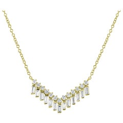 Diamond Pendant Necklace in 18 Karat Yellow Gold