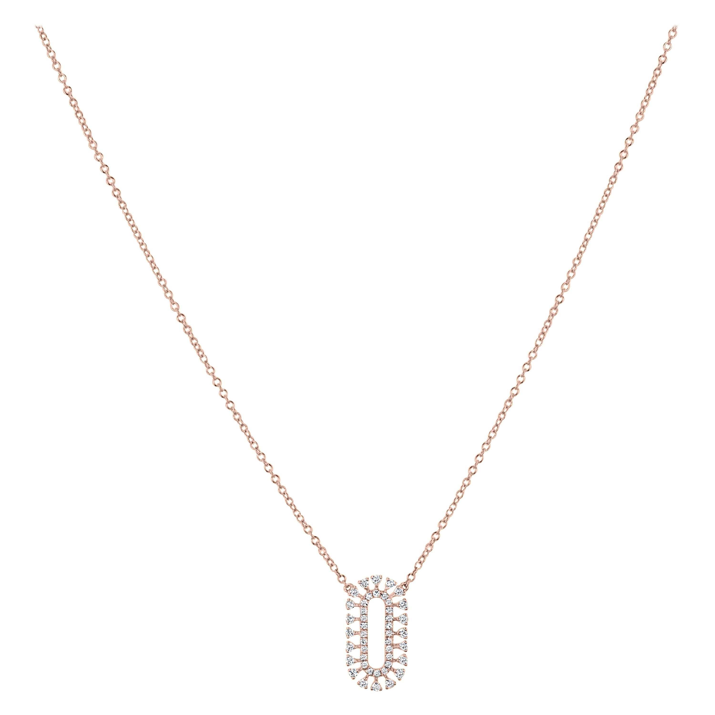 Diamond Pendant Necklace in 18k Rose Gold