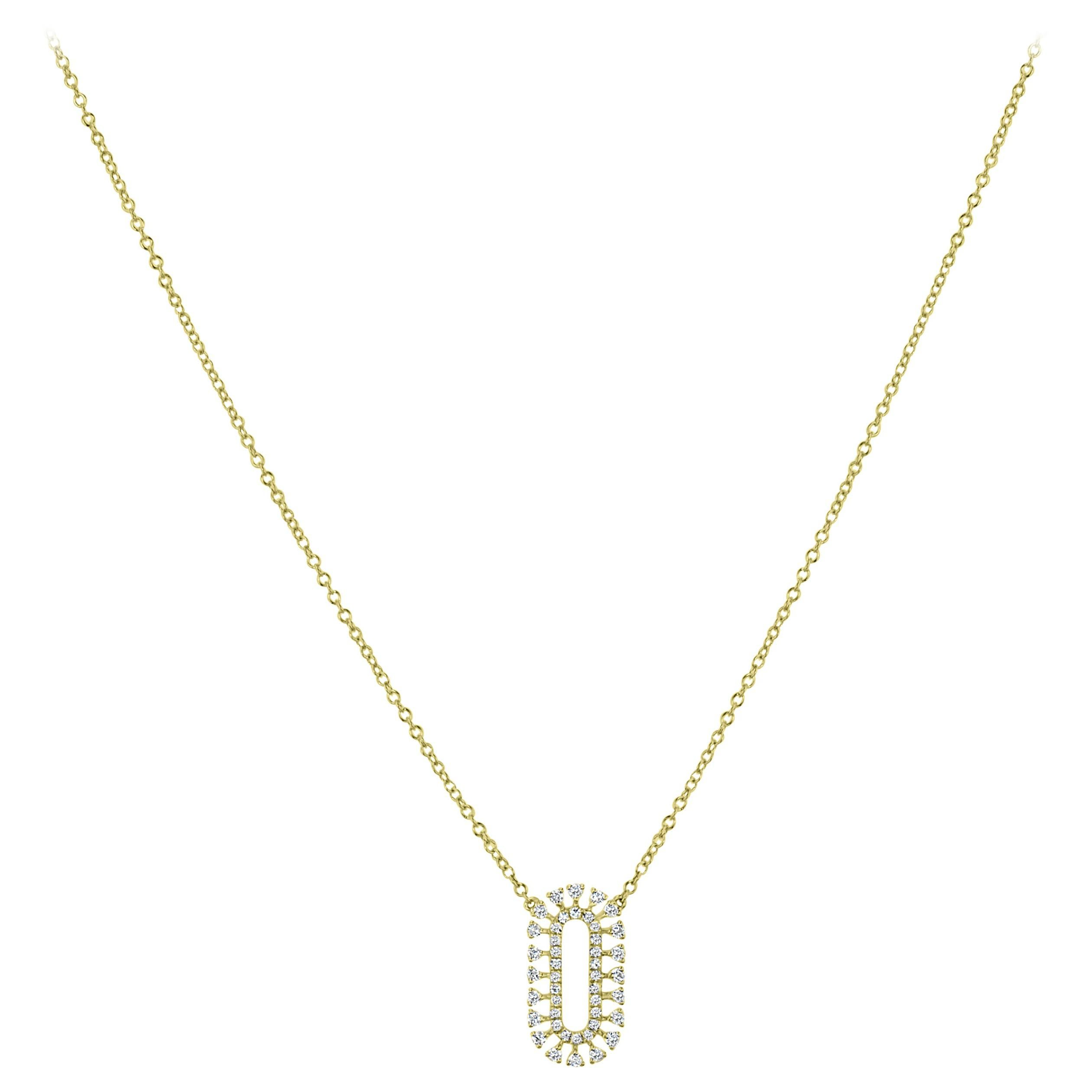Diamond Pendant Necklace in 18k Yellow Gold