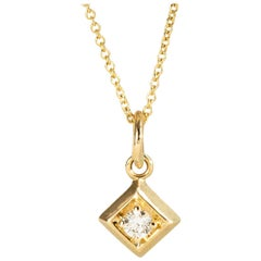 Diamond Pendant Necklace Square