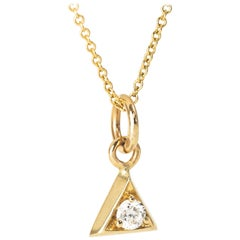 Diamond Pendant Necklace Triangle