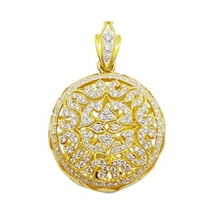 Diamond Pendant Set in 18 Karat Gold Settings