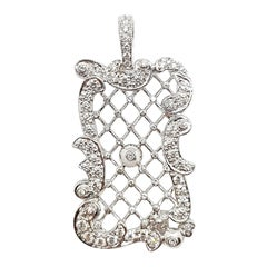 Diamond Pendant Set in 18 Karat White Gold Settings