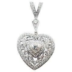 Diamond Pendant Set in 18 Karat White Gold Settings