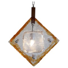Diamond Pendants by Mazzega, 2 Available