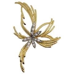 Diamond Pin 18 Carat Gold .30 Carat Diamond