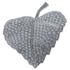Diamond Pin/Brooch in 18 Karat White Gold