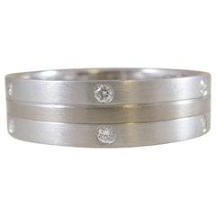 Diamond, Platinum and White Gold Wedding Ring, Unworn, circa 1999