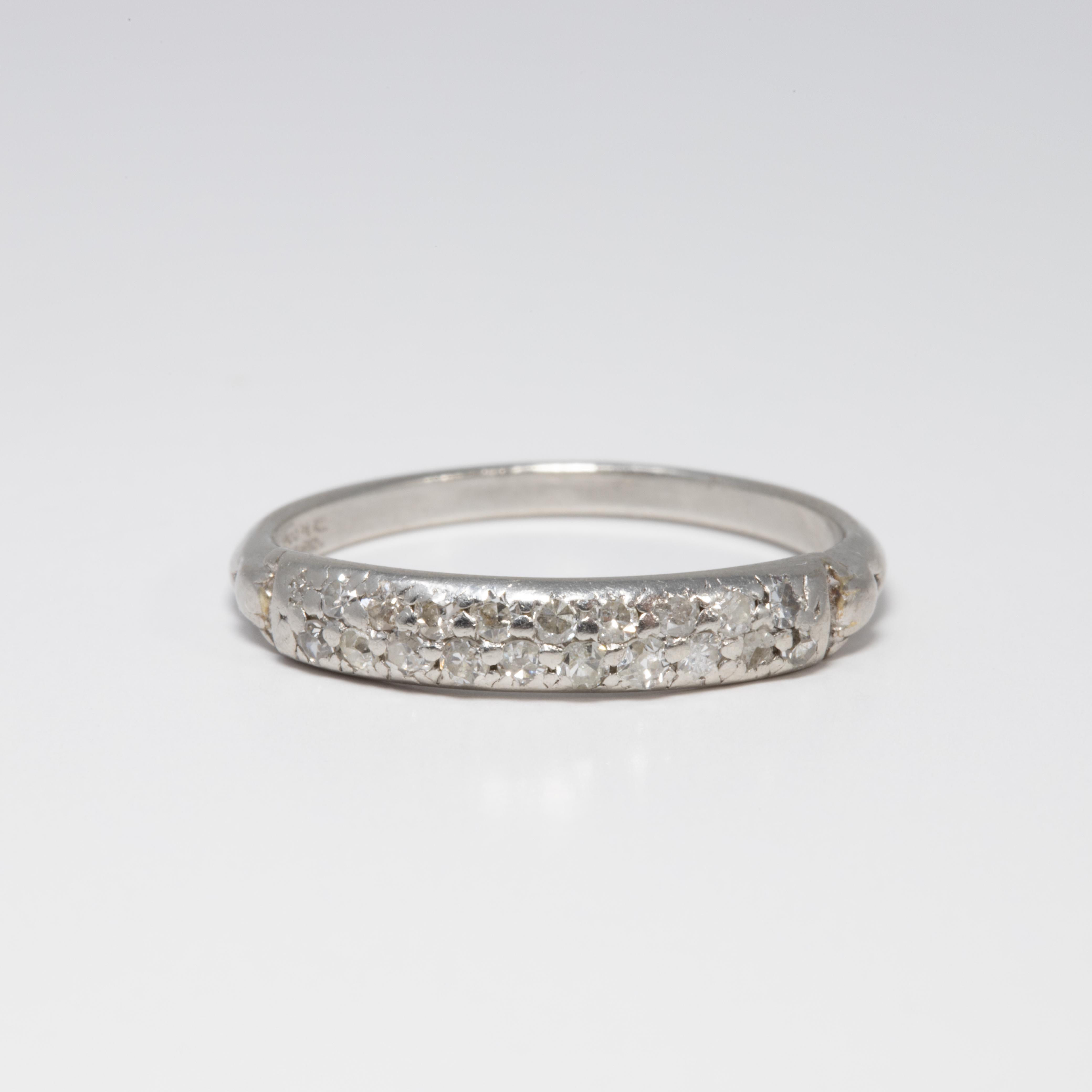 Diamond Platinum Anniversary Style Ring Band 20 Diamonds 2 Carat For Sale At 1stdibs