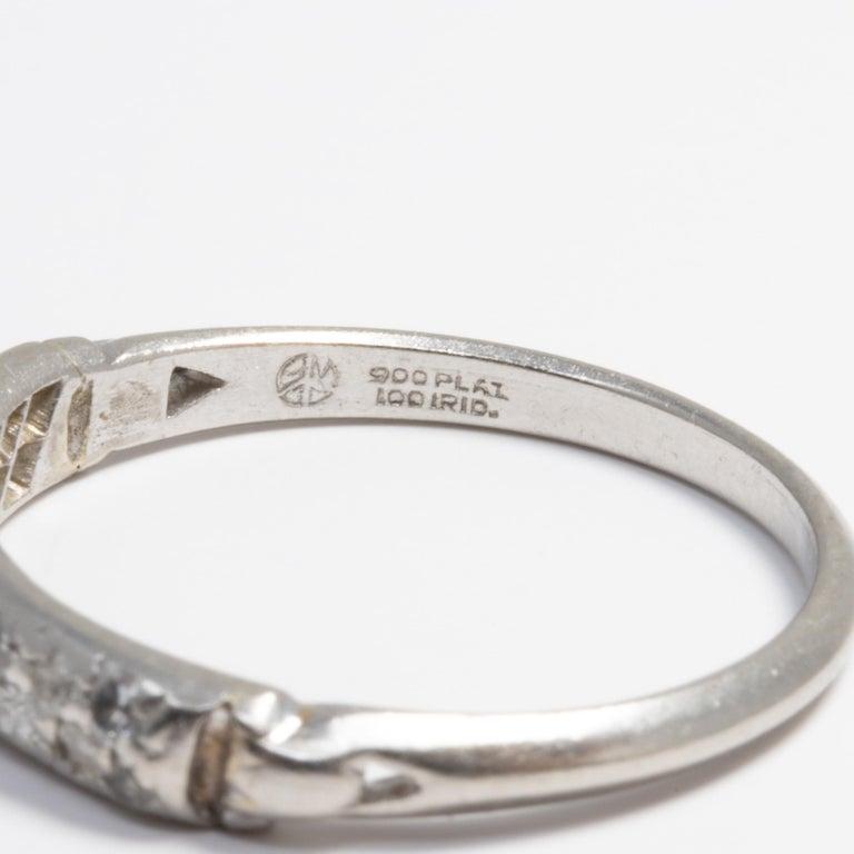 Diamond Platinum Anniversary Style Ring, Band, 20 Diamonds, .2 Carat For Sale 1