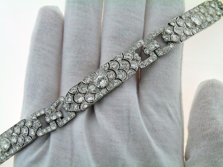 Diamond Platinum Bracelet, France, 1930s For Sale 3