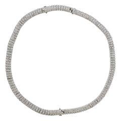 Diamond Platinum Bracelet Necklace Suite