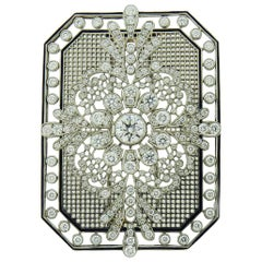 Diamond Platinum Brooch by Tiffany & Co.