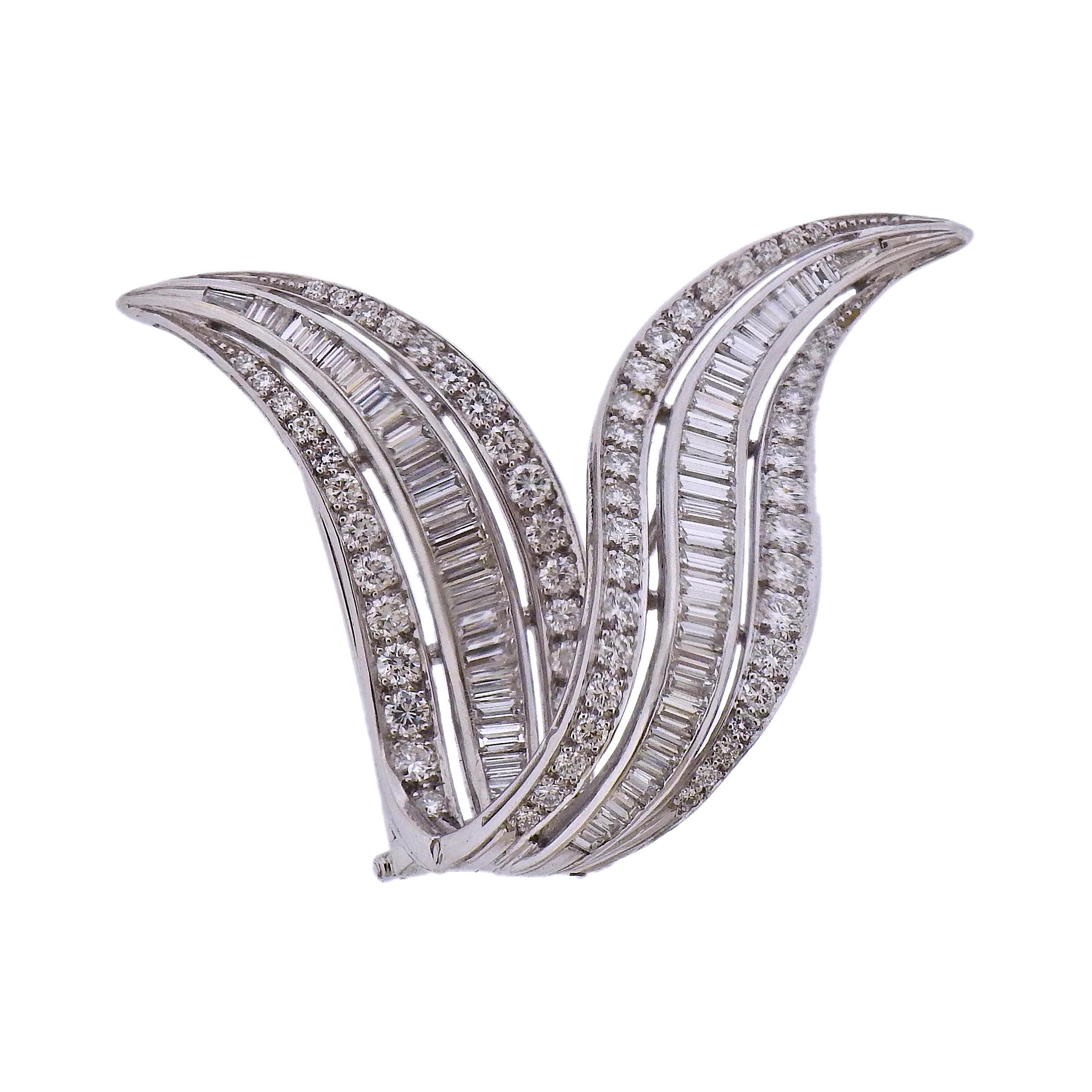 Diamond Platinum Brooch Pin