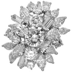 8.90ct Diamond Platinum Cluster Ring