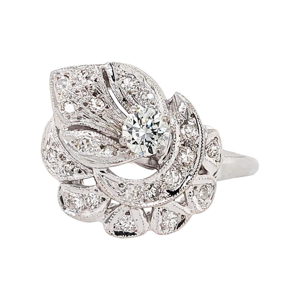 Diamond Platinum Cocktail Ring